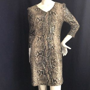 Cache Sequined leopard print Dress